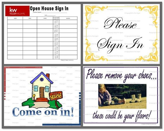 kw open house sign in sheet pdf