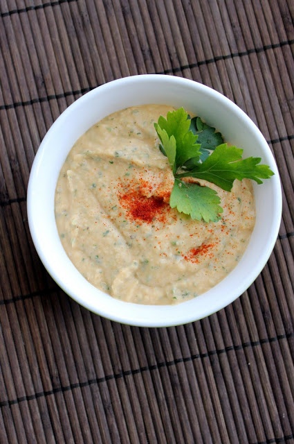 hint of honey: White Bean Dip. Try with cilantro instead of parsley.