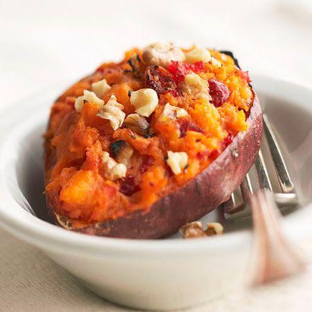 Twice-Baked Sweet Potatoes | Flexitarian Recipes | Pinterest