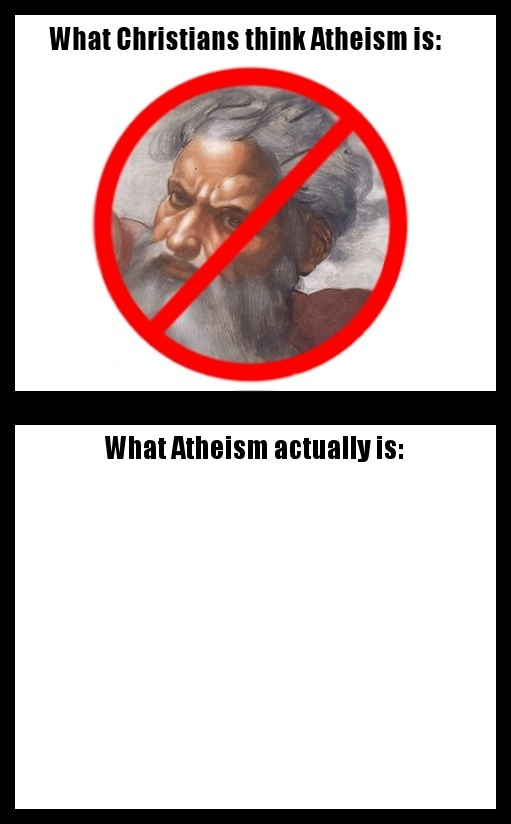 atheism   God is not r...