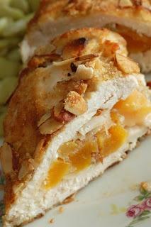Sugar & Spice by Celeste: Almond-Apricot Chicken with Mint Pesto