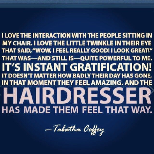 Hairdresser quotes quotesgram for Salon quotes of the day