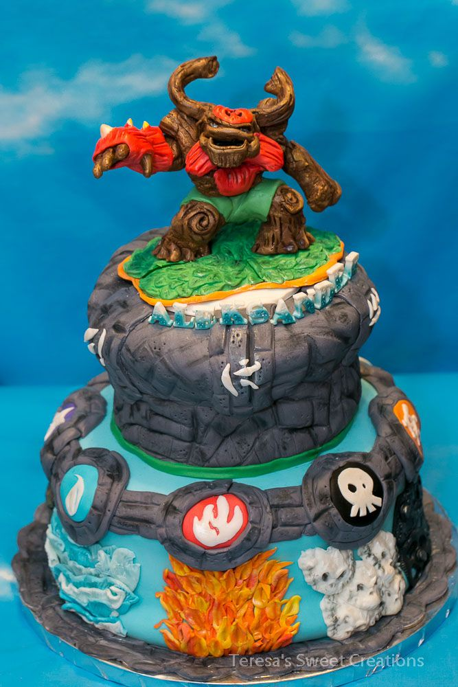 Tree Rex Skylander Cake Ideas 12104 Skylanders Giants Birt