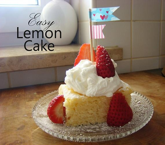 plain jane: Easy Lemon Cake | Recipes ~ Cupcakes & Cakes | Pinterest