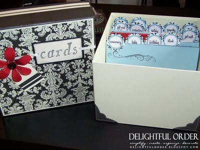 Organise greeting cards