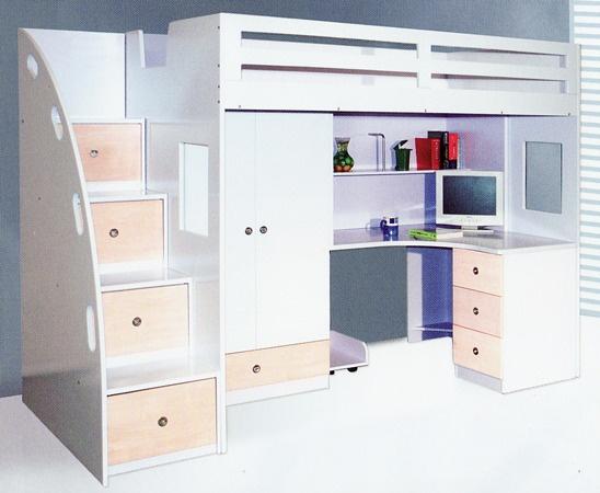 Best King Single Loft Bed Kids Pinterest 400 x 300