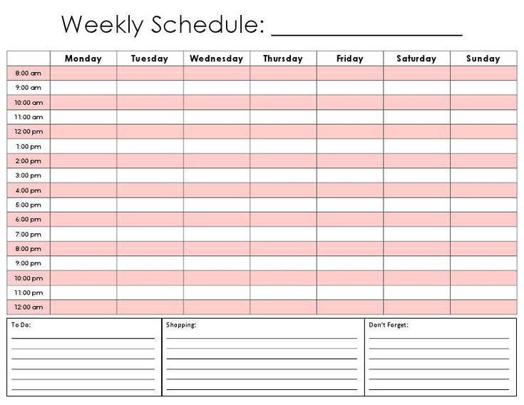 Daily Calendar Schedule Printable Editable Blank Calendar 2017 – Daily Calendar