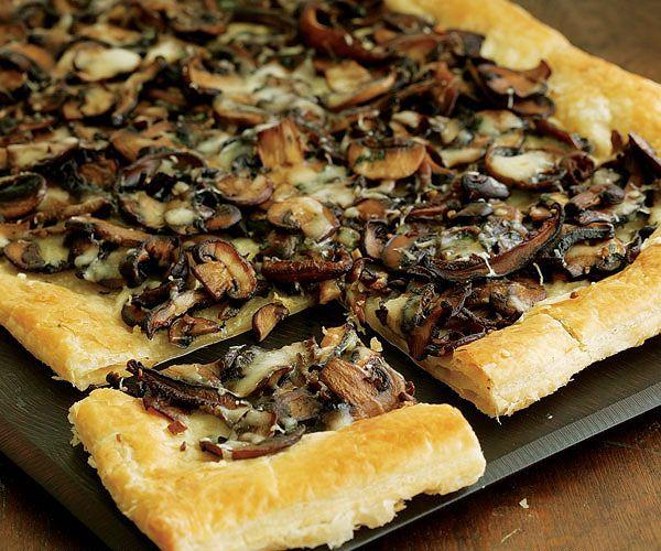 working with puff pastry: Mushroom-Fontina Tart