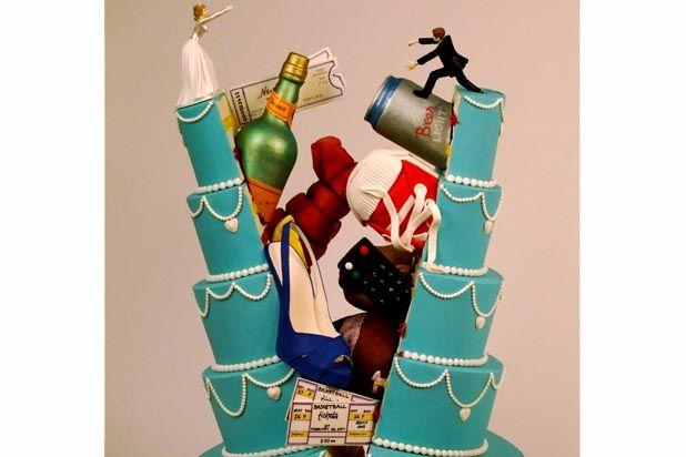 Split personalities wedding cake by Christopher Garrens.