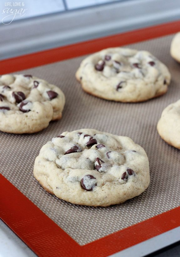 Thick and Chewy Chocolate Chip Cookies - Life Love and Sugar