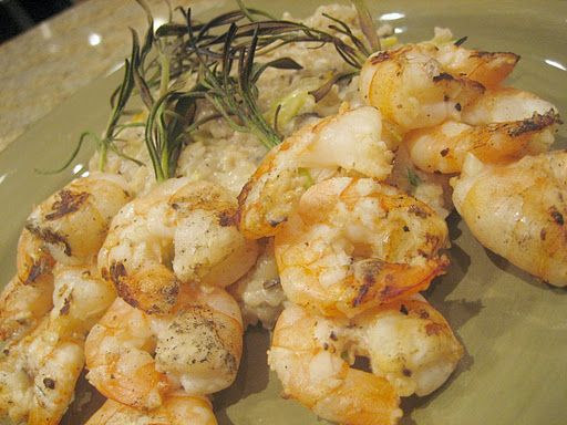 Cara's Cravings » Rosemary Shrimp Scampi Skewers and Bulgur Risotto ...