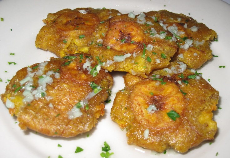 Tostones - a lot like french fries; only WAY better!