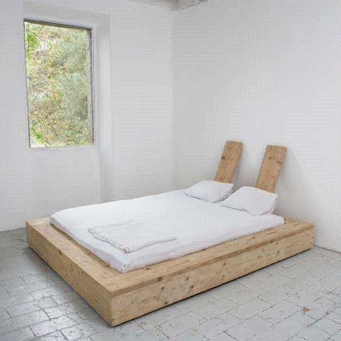 diy reclaimed wood platform bed | For the Home | Pinterest