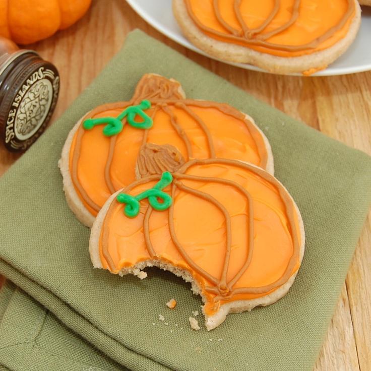 Pumpkin spice sugar cookies! | Crazy for Cookies! | Pinterest