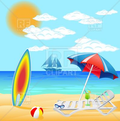 Free Clip Art Beach Scenes | clipart catalog travel sea beach with ...