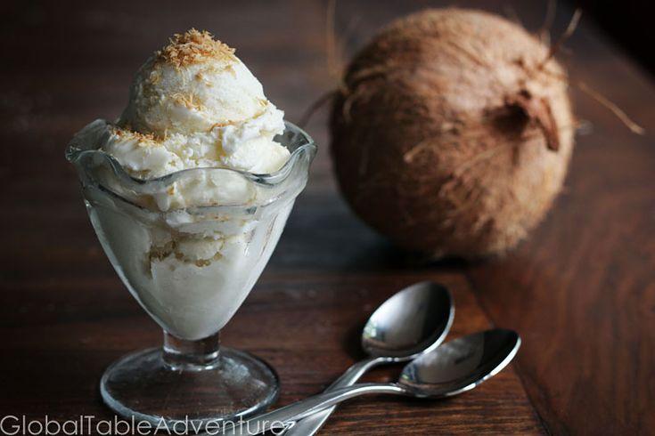 Caribbean Coconut Ice Cream Recipe — Dishmaps