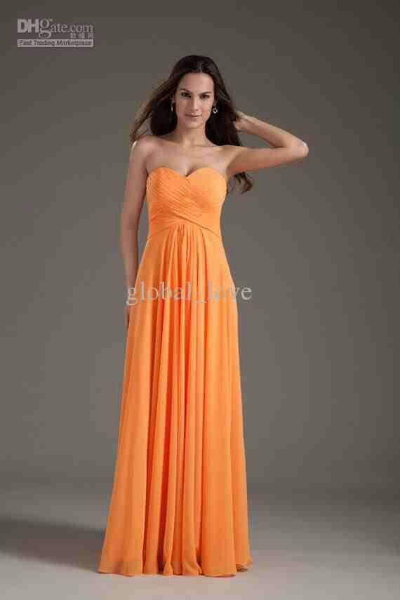 Bridesmaid Dress Light Orange Wedding Ideas Pinterest