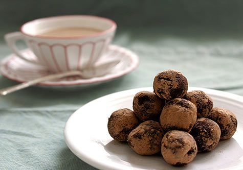 Balsamic Chocolate Truffles (with a wink of cherry)