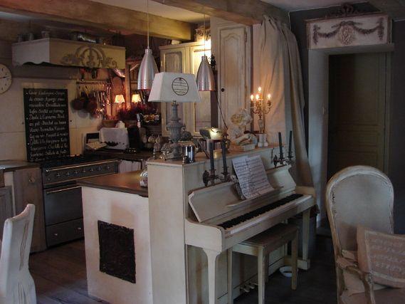 Maison Bois Contemporaine Finlande : Cuisine romantique shabby deco charme  Déco  Pinterest