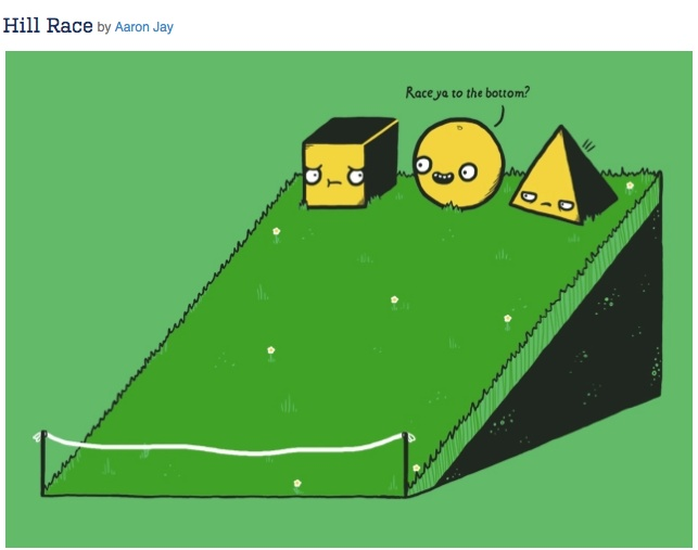 ... is funny and use to help intro or review differences in 3d shapes