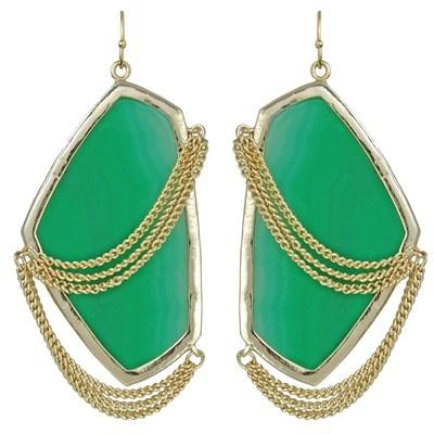 Kendra Scott Kavita Earrings in Green Onyx