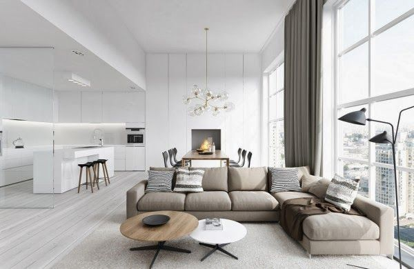 Spacious Modern Living Room Interiors Home And Interior Design Ideas