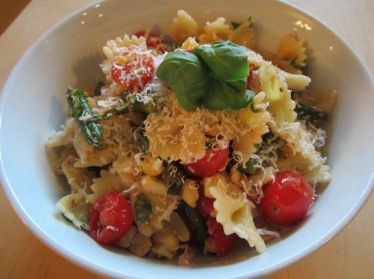 corn tomato and basil pasta! | mmmmm food! | Pinterest