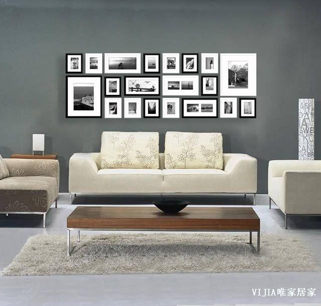 Mur de photos mur de cadres pinterest - Mur de cadres photos ...