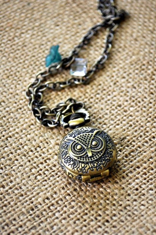 Love this Owl Pocket Watch Necklace by Trendy Trinkets