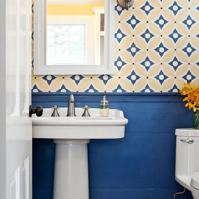 bathroom small pattern wallpaper dream home pinterest