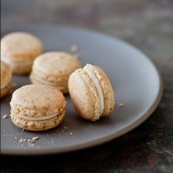 Carrot Cake Macarons With Cream Cheese Frosting filling.
