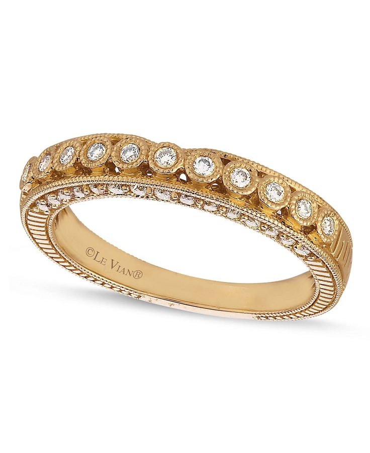 le vian ring 14k gold wedding band 1 4