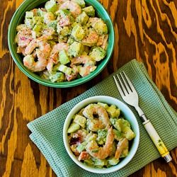 Shrimp, Avocado, and Red Pepper Salad Recipe from Kalyn's Kitchen