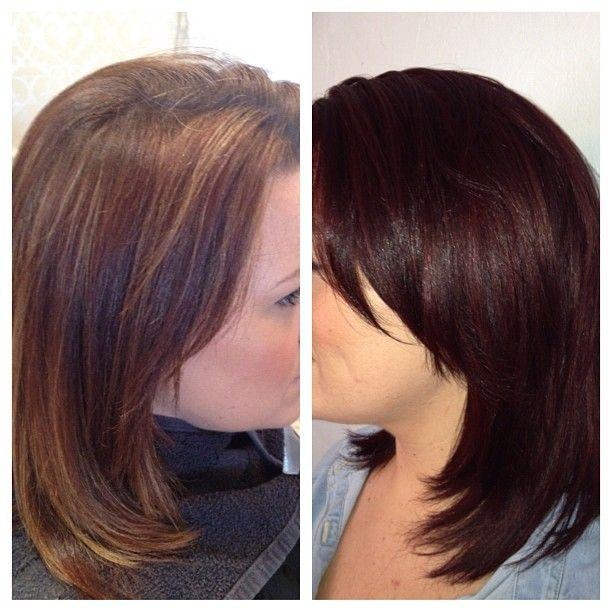 hair by nina # hair # chocolate # cherry # redheads