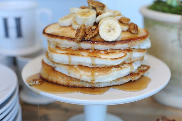 Banana Pecan Pancakes | ##BREAKFAST of CHAMPIONS | Pinterest