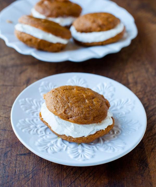 pumpkin whoopie pies #Recipe | Food | Pinterest