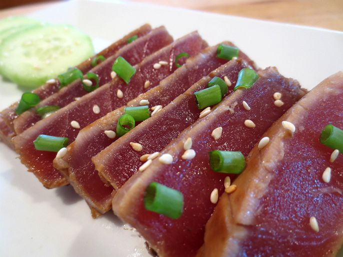Sesame Soy Seared Ahi Tuna | Food and Drinks | Pinterest