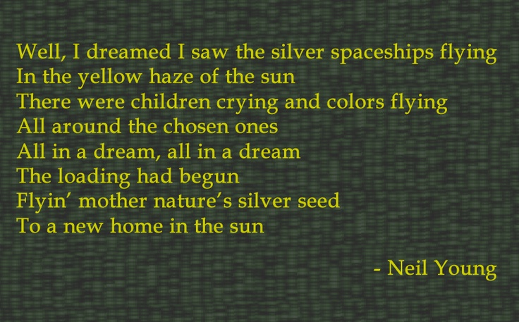 NEIL YOUNG - AFTER THE GOLD RUSH LYRICS