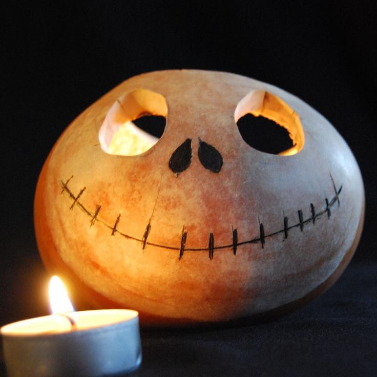 Nightmare Before Christmas Gourd Lantern- Jack Skellington