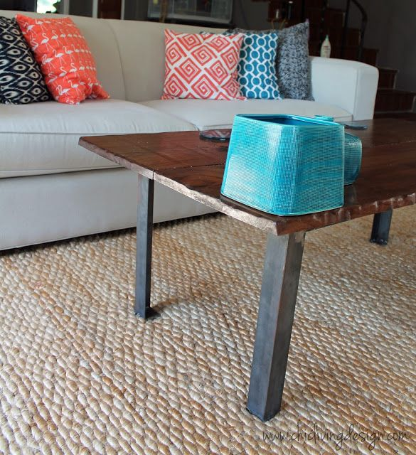 Diy industrial coffee table for ike pinterest