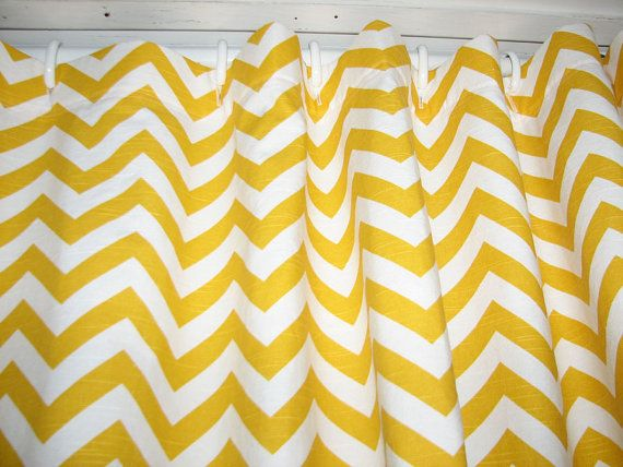 Yellow chevron shower stall curtain by giulianadesign on etsy 45 00