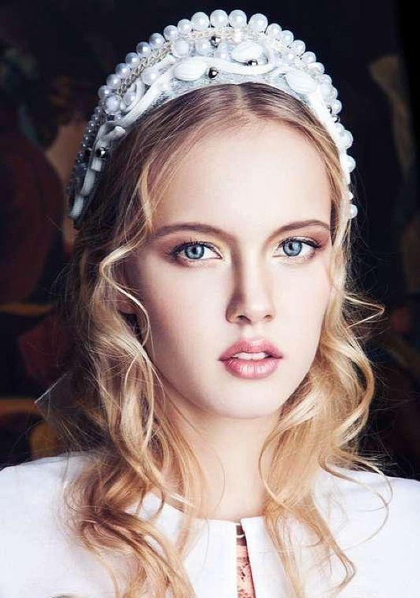 """Wedding headdress """"kokoshnik"""" in Russian style. #bride # ..."""