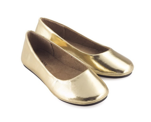 Love flats! Gold Wedding Shoes for Women