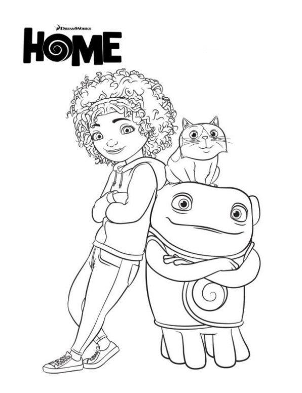 Home De Nieuwe Dreamworks Film Tip Oh En Pig Coloring