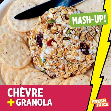 Chèvre + Granola #cheese #granola #foodmashup