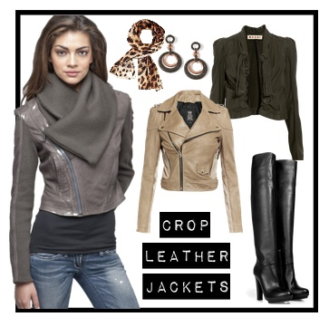 Fall 2012 Trend: The Crop Leather Jacket