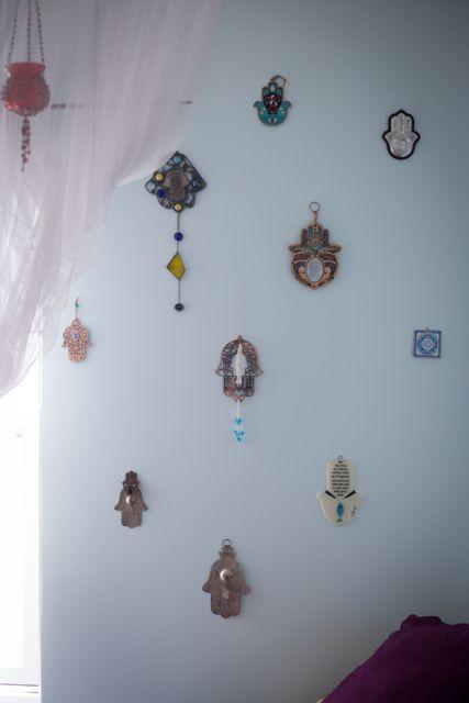 My hamsa wall.