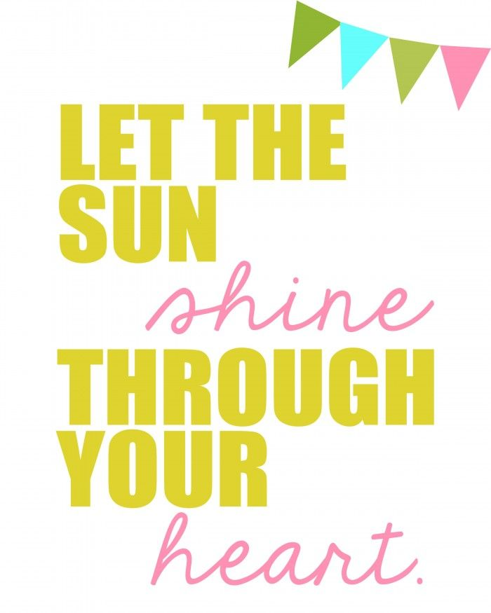 Let The Sun Shine Through the Heart - free prints on { lilluna.com }