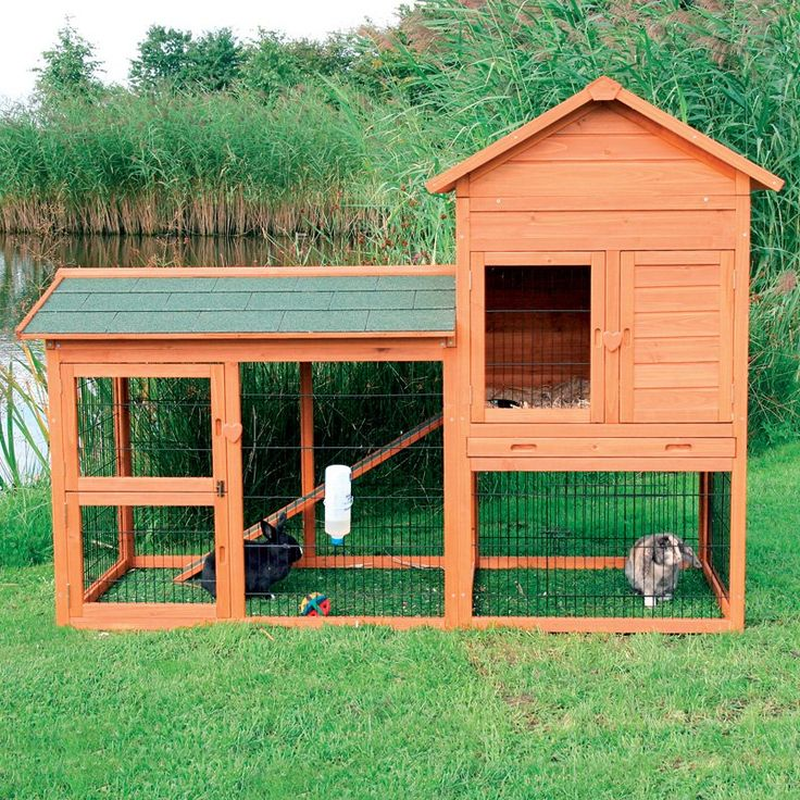 Trixie rabbit hutch with outdoor run small www for What is a rabbit hutch