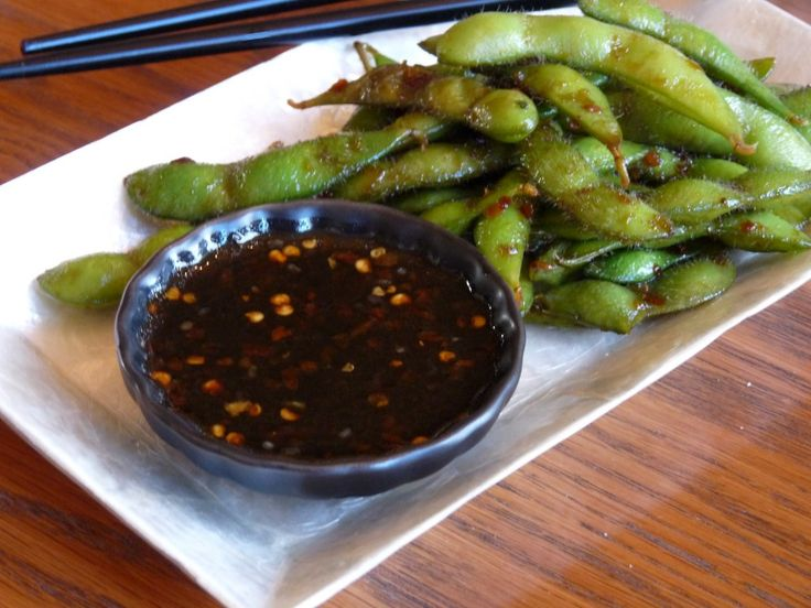 Sweet and Spicy Soy Glazed Edamame | Food | Pinterest